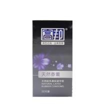高邦 天然胶乳橡胶避孕套/黑色经典迷离香薰 12只