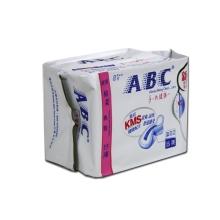 ABC夜用纤薄柔棉排湿表层卫生巾8片K12(新)