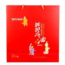 贺氏香坊纯胡麻油礼盒1L*2