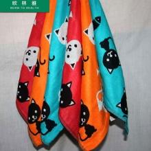 欧林雅 猫与鱼方巾