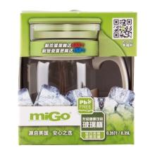 miGo 享悦 无铅健康饮茶 玻璃杯 0.35L - 暖茶灰
