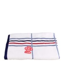 洁丽雅6918纯棉大浴巾单条装(白蓝红条 )