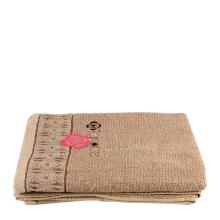 洁丽雅8124纯棉浴巾(浅棕 )