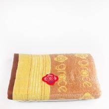 洁丽雅无捻提花缎档纯棉大浴巾8693 单条装(棕色)