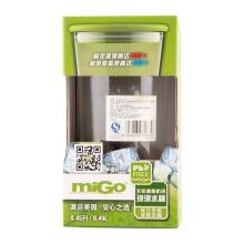 miGo 享悦无铅健康防烫玻璃水杯 0.45L - 暖茶灰