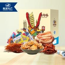 新海 噜噜猫海鲜零食大礼盒(内含6个单品)