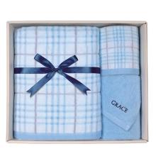 洁丽雅爱情海系列套盒(1浴*1面*1方)三件套(蓝色)