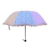 宝丽姿 樱花细雨黑胶布三折伞