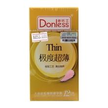 多乐士 极度超薄天然胶乳橡胶避孕套 12支