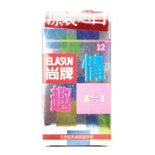 尚牌 天然胶乳橡胶避孕套(尚牌情趣四合一避孕套) 12支