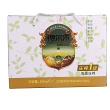 得尔乐 有机山茶油冷榨一级325ml*4礼盒装 油