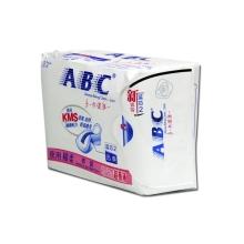 ABC夜用超级薄棉柔排湿表层卫生巾8片K14
