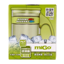 miGo 享悦 无铅健康 饮茶 玻璃杯 0.35L - 新草绿