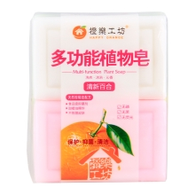 橙乐工坊植物多功能皂(清新百合)202g*4