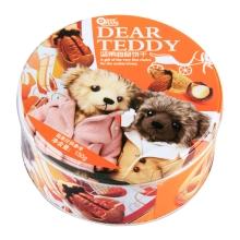 欧曼思亲爱的泰迪曲奇饼干(混合坚果味)150g 小零食
