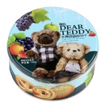 欧曼思亲爱的泰迪曲奇饼干(混合水果味)150g 小零食