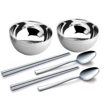 瑞士路卡酷餐具组合饭碗 筷子 勺子6件套