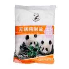 熊猫无碘精制盐 400g