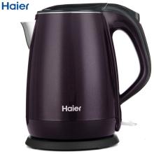 海尔电水壶HKT-2719Z 紫黑色  1.7升双层防烫保温 304不锈钢 电烧开水壶