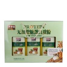 巨源牌 无加蔗糖蛋白质粉 600克/盒*3