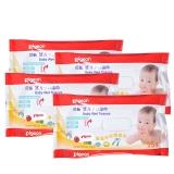 贝亲-婴儿手口湿巾25片装4连包 25抽*4包 PL138湿巾