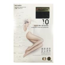 梦娜 10D轻呼吸裸BB哑光粉底袜G6001-黑色 袜