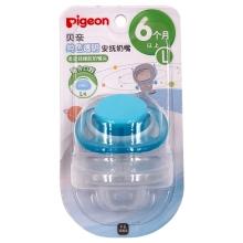 贝亲 纯色透明安抚奶嘴-L号(海洋蓝)N968 6个月以上宝宝适用 母婴