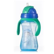 贝亲-双耳便携大容量吸管杯(冰爽薄荷蓝)430ml 母婴