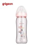 """贝亲 Disney""""自然实感""""宽口径玻璃彩绘奶瓶240ml配M奶嘴(米妮宝宝-皮球)AA152 母婴玻璃奶瓶"""