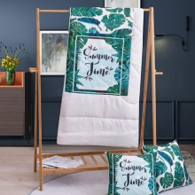 竣程 棉麻抱枕(被)暖夏 40*40cm 家纺