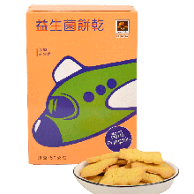 烘焙客 益生菌饼干南瓜口味 80g 小零食