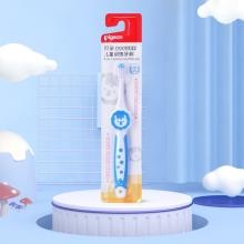 贝亲 亲子护牙系列儿童训练牙刷(天蓝色)3-6岁 11807 牙刷 柔软刷毛 母婴
